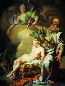 Авраам приносит в жертву сына своего Исаака