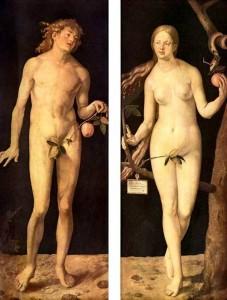 """""""Адам и Ева"""" 1507 год"""