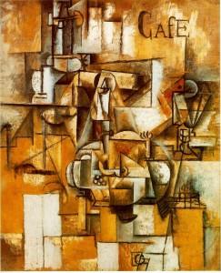 """""""Голубь с зеленым горошком"""" (Le pigeon aux petits pois) 1911 года Пикассо,"""