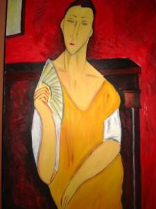 """""""Женщина с веером"""" (La femme a l'eventail) Амедео Модильяни"""